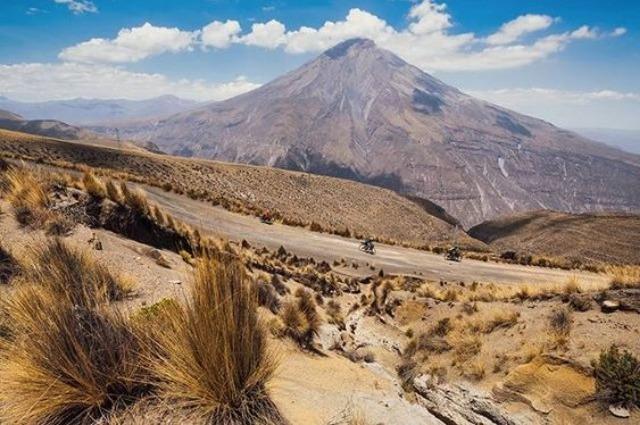 Arequipa, volcano. 19000 foot peruvian volcano, colca canyon